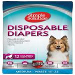 Bramton Simple Solution Disposable Diapers Medium 12Pk