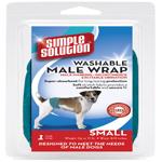 Simple Solution Washable Male Wrap Blue 1ea/Small