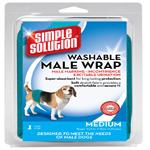 Simple Solution Washable Male Wrap Blue 1ea/Medium