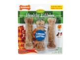 Nylabone Healthy Edibles All-Natural Long Lasting Bacon Flavor Chew Treats 3 count 1ea/Small/Regular - Up To 25 lb