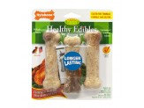 Nylabone Healthy Edibles All-Natural Long Lasting Chicken Flavor Dog Chew Treats 3 count 1ea/Small/Regular - Up To 25 lb