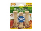 Nylabone Healthy Edibles All-Natural Long Lasting Chew Treats Variety Pack 3 count 1ea/Petite - Up To 15 lb