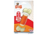Nylabone PRO Action Dental Power Chew Durable Dog Toy Bacon Flavor 1ea/Medium/Wolf - Up To 35 lb