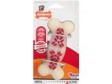 Nylabone Power Chew Action Ridges Chew Toy Bacon Flavor 1ea/Medium/Wolf - Up To 35 lb