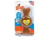 Nylabone Puppy Chew Ring Bone Chicken Flavor 1ea/Medium/Wolf - Up To 35 lb