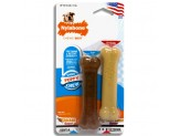 Nylabone Classic Puppy Chew Flavored Durable Dog Chew Toy Peanut Butter & Chicken Flavor 1ea/X-Small/Petite - Up To 15 lb