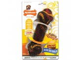 Nylabone Flavor Frenzy Strong Chew Toy Dog Toy Bacon & Cheeseburger Flavor 1ea/Medium/Wolf - Up To 35 lb