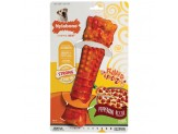 Nylabone Flavor Frenzy Strong Chew Toy Dog Toy Pepperoni Pizza Flavor 1ea/X-Large/Souper - 50+ lb