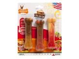 Nylabone Flavor Frenzy Power Chew Triple Pack Sausage, Pancake, Roast Beef Club & Meat Lasagna Flavor 1ea/X-Small/Petite - Up To 15 lb