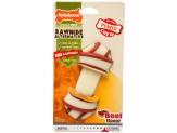 Nylabone Power Chew Rawhide Knot Chew Bone Beef Flavor 1ea/Medium/Wolf - Up To 35 lb