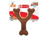 Nylabone Ergonomic Hold & Chew Wishbone Power Chew Durable Dog Toy Bison Flavor 1ea/Large/Giant - Up To 50 lb