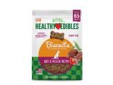 Nylabone Healthy Edibles Biscuits Grain Free Dog Treats Beef & Veggie Flavor 1ea/12 oz