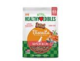 Nylabone Healthy Edibles Biscuits Grain Free Dog Treats Salmon Flavor - 65 Count 1ea/12 oz