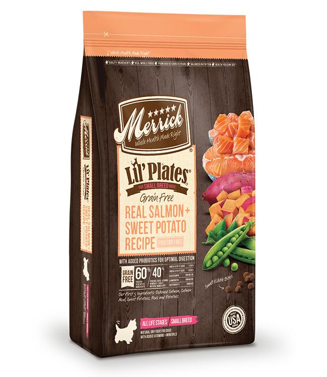 Merrick Lil' Plates Grain Free Real Salmon and Sweet Potatoes Recipe 4LB