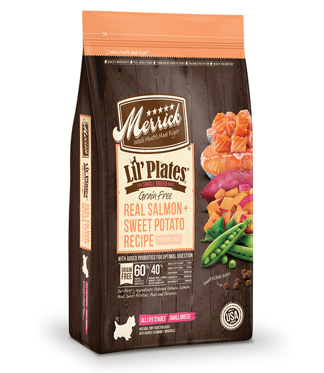 Merrick Lil' Plates Grain Free Real Salmon and Sweet Potatoes Recipe 12LB