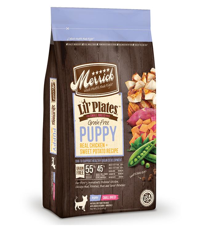 Merrick Lil' Plates Grain Free Puppy Real Chicken and Sweet Potato Recipe 4LB