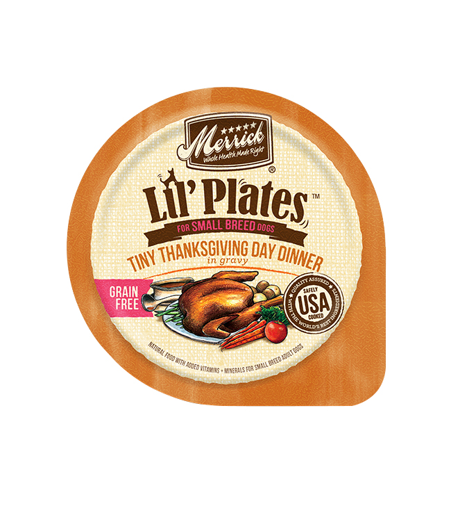 Merrick Dog Lil Plates Small Breed Tiny Thanksgiving Day Dinner 3.5 oz.(Case Of 12)