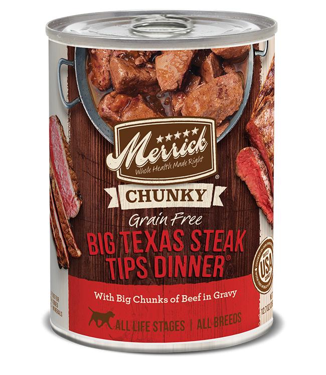 Merrick Dog Chunky Big Texas Steak 12.7 oz.(Case Of 12)