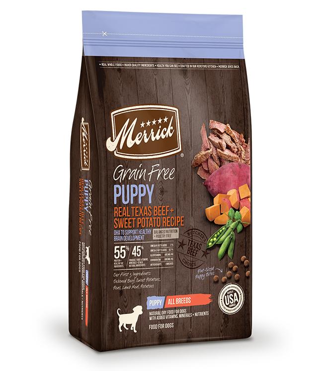 Merrick Grain Free Real Texas Beef and Sweet Potato Puppy Recipe 12LB