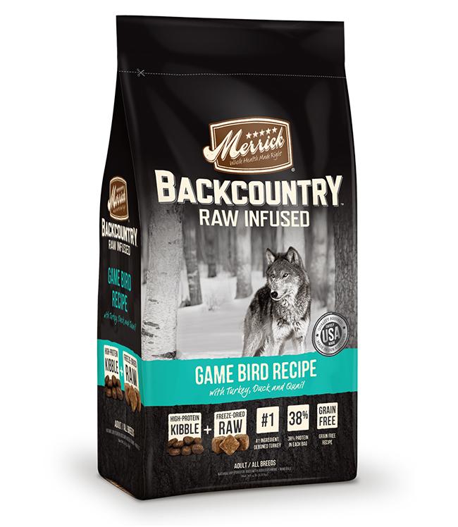 Merrick Backcountry Raw Infused Game Bird Recipe 12LB