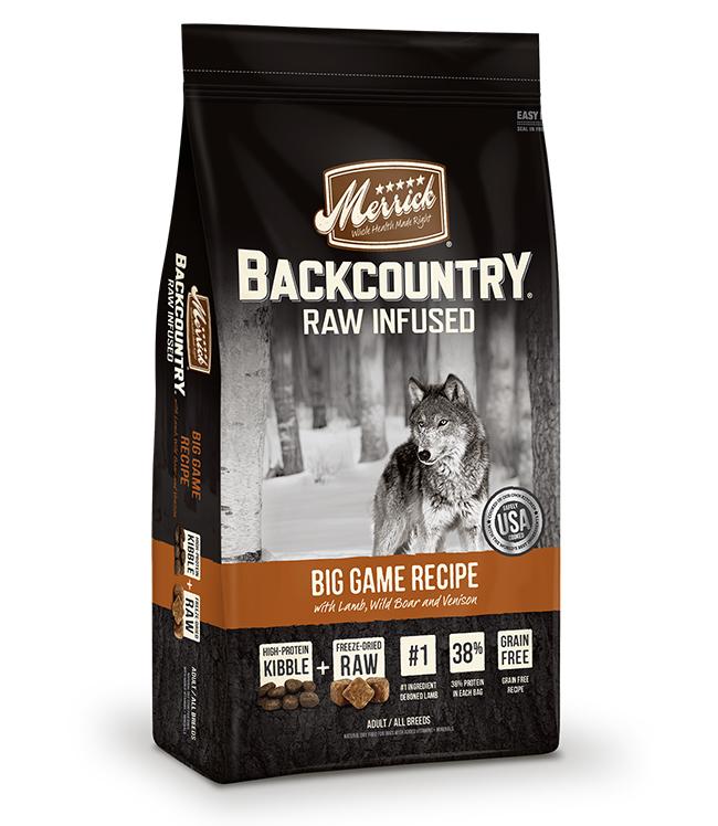 Merrick Backcountry Raw Infused Big Game Recipe 12LB