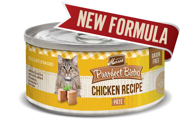 Merrick Cat Purrfect Bistro Chicken Pate 5.5 oz.(Case Of 24)