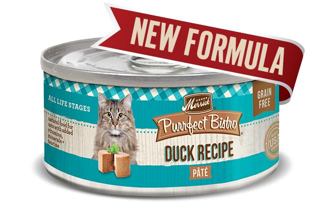 Merrick Cat Purrfect Bistro Duck Pate 5.5 oz.(Case Of 24)
