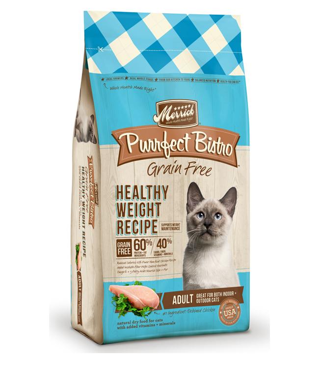 Merrick Purrfect Bistro Grain Free Healthy Weight Recipe 4LB