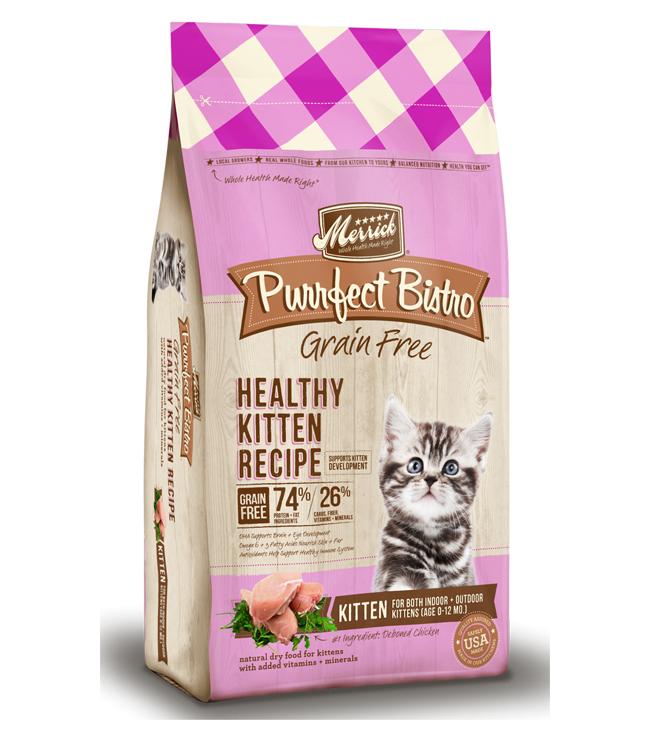 Merrick Purrfect Bistro Grain Free Healthy Kitten Recipe 7LB