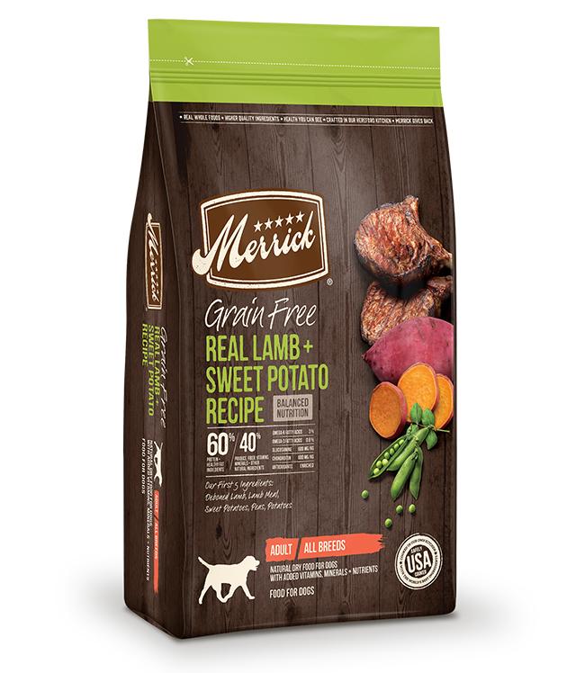 Merrick Grain Free Real Lamb and Sweet Potato Recipe 12LB