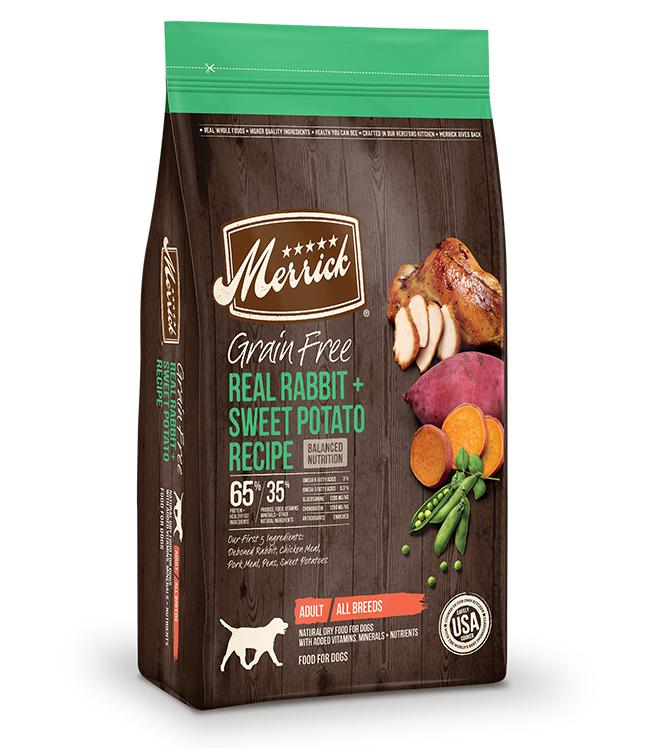 Merrick Grain Free Real Rabbit and Sweet Potato Recipe 4LB