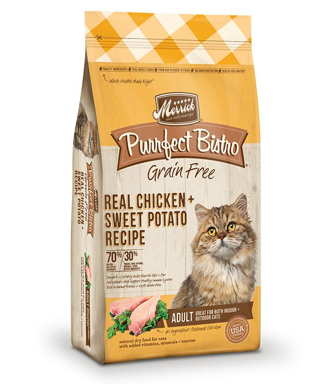 Merrick Purrfect Bistro Grain Free Real Chicken and Sweet Potato Recipe 7LB