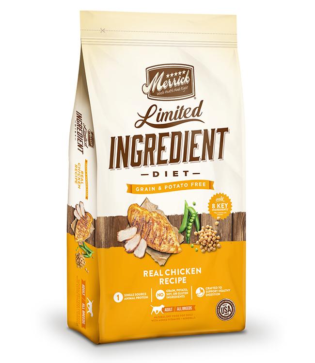 Merrick Limited Ingredient Diet Grain Free Real Chicken Recipe 4LB