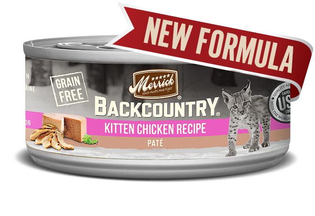 Merrick Cat Backcountry Kitten Pate 3 oz. (24 Pack)