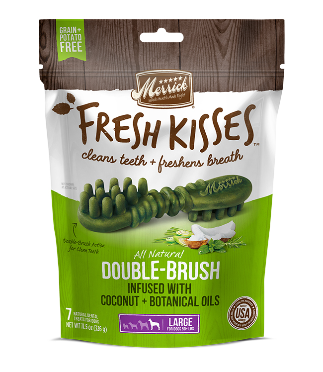 Merrick Fresh Kisses Coconut Oil For Large Dogs (70+ lbs) 11.7OZ
