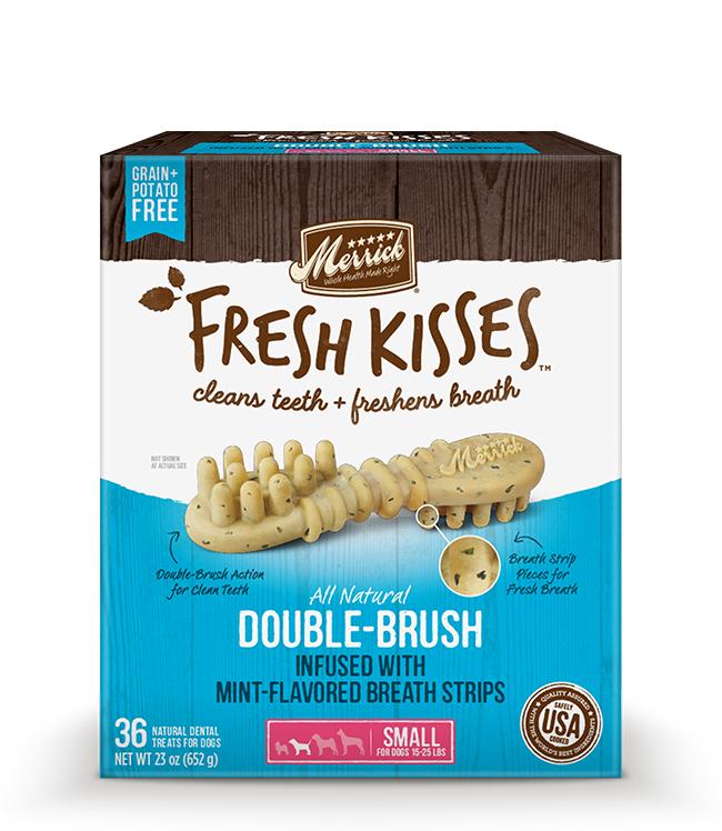 Merrick Fresh Kisses Mint Breath Strips For Small Dogs (17-30 lbs) 23OZ
