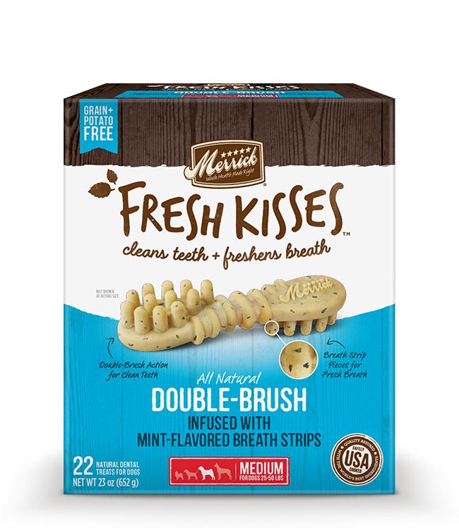 Merrick Fresh Kisses Mint Breath Strips For Medium Dogs (30-70 lbs) 23OZ