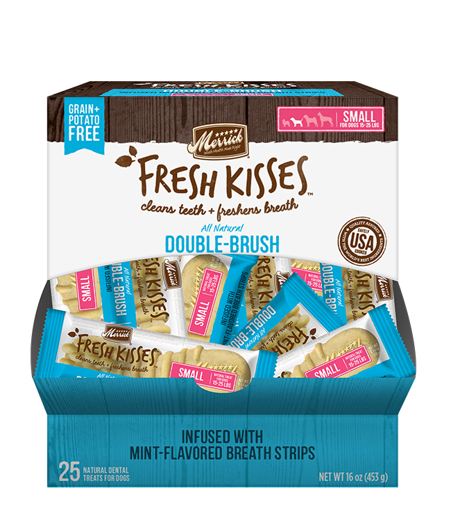 Merrick Fresh Kisses Mint Breath Strips For Small Dogs (17-30 lbs)