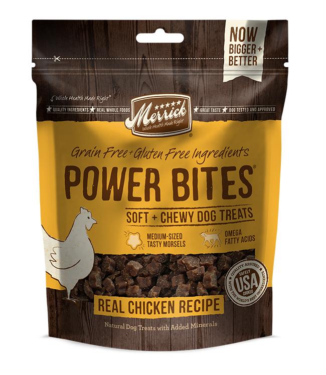 Merrick Power Bites Real Chicken Recipe 6 oz.(Case Of 6)
