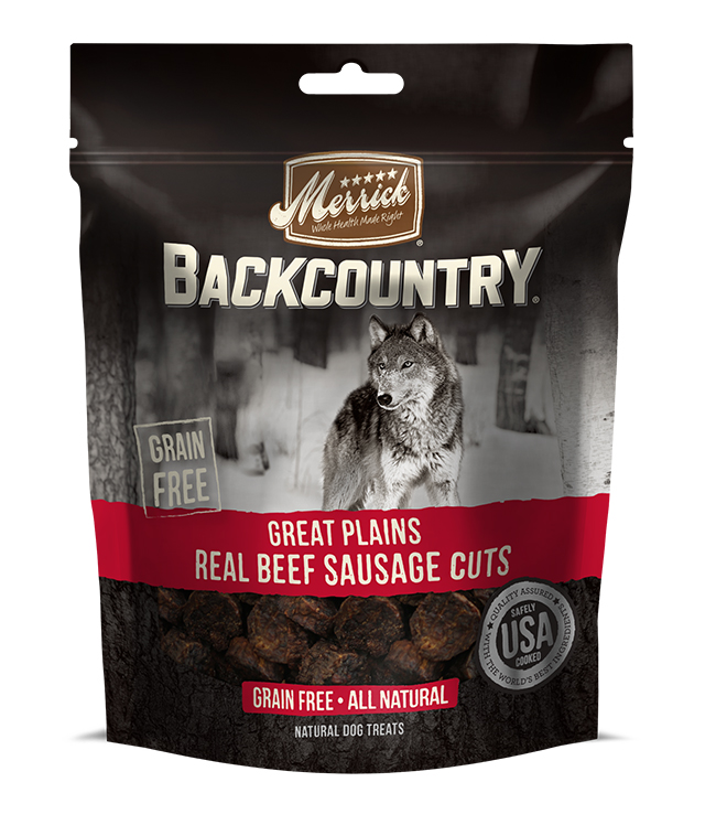 Merrick Backcountry Great Plains Real Beef Sausage Cuts 7 oz.(Case Of 6)