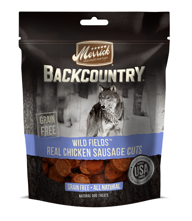 Merrick Backcountry Wild Fields Real Chicken Sausage Cuts 7 oz.(Case Of 6)