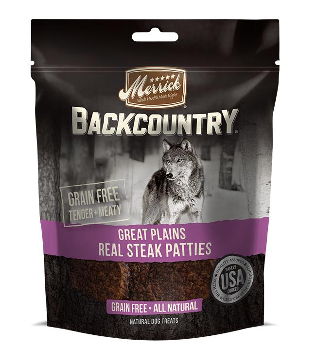 Merrick Backcountry Great Plains Real Steak Patties 4 oz.(Case Of 6)