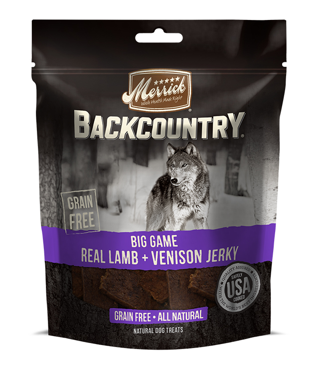 Merrick Backcountry Big Game Real Lamb And Venison Jerky 4.7 oz.(Case Of 6)