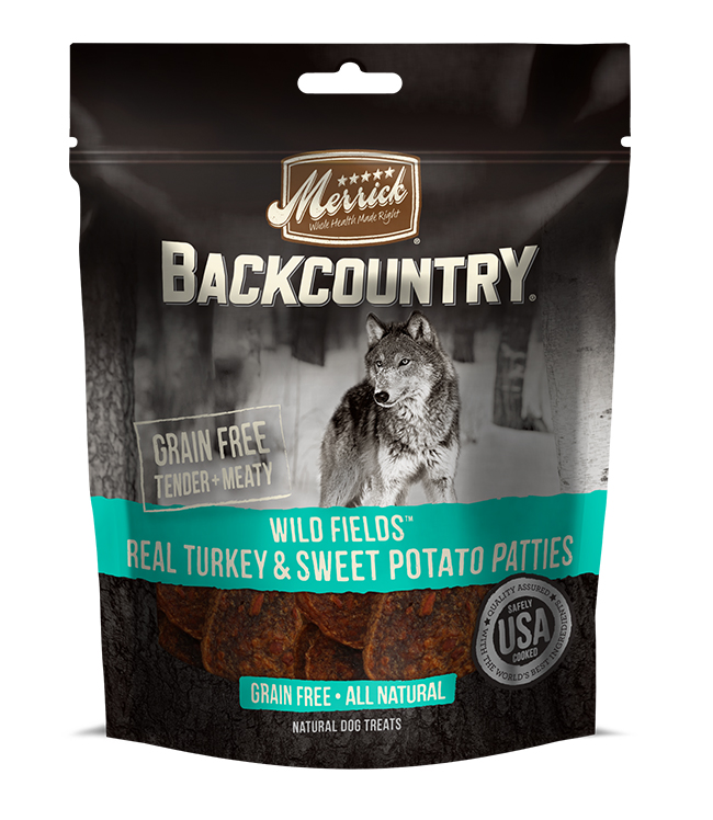Merrick Backcountry Wild Fields Real Turkey And Sweet Potato Patties 4 oz.(Case Of 6)