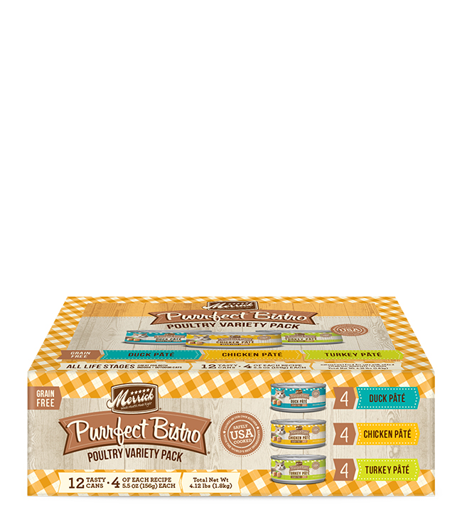 Merrick Merrick Purrfect Bistro Poultry Variety Pack 7.7Oz