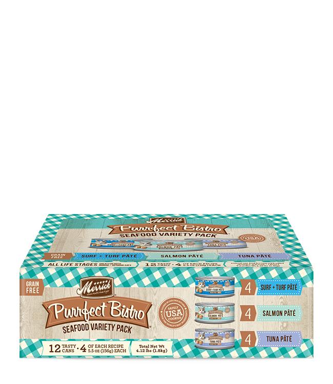 Merrick Merrick Purrfect Bistro Seafood Variety Pack  7.7Oz