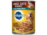 Pedigree Choice Cuts Chicken and Rice Dog Food 12ea/13.2 oz, 12 pk