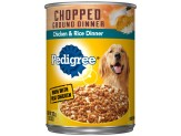 Pedigree Chopped Ground Dinner Chicken & Rice Canned Dog Food 12ea/13.2 oz, 12 pk