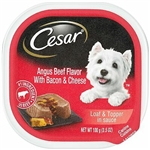 CESAR Angus Beef Flavor with Bacon and Cheese Loaf Wet Dog Food 24ea/3.5oz