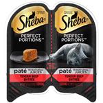 Sheba Perfect Portions Pate Natural Juices Beef Grain Free Cat Food 24ea/2.6 oz